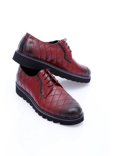 Wessi %100 Deri Bağcıklı Ayakkabı Bordo